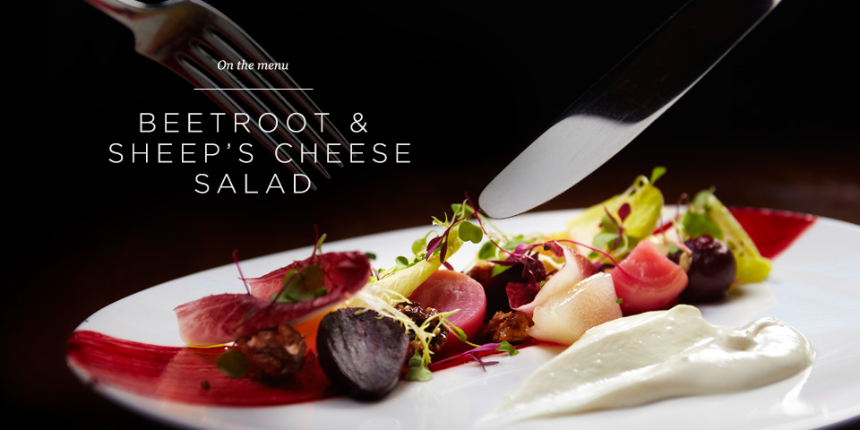 On the Menu - Sheep's Cheese Salad   Issue 01   Journal   Aviator ...