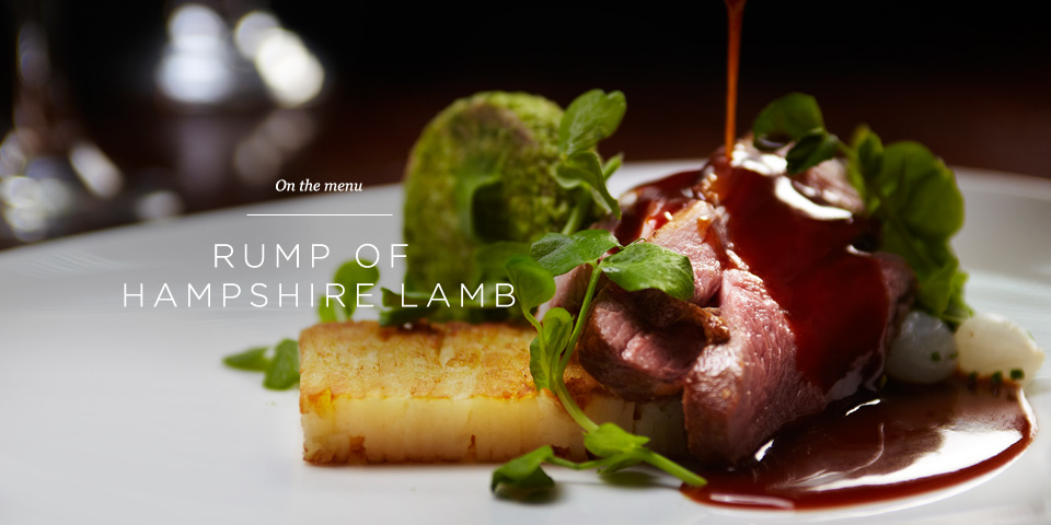 Rump of Hampshire Lamb at the Aviator Brasserie