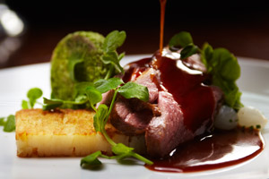 Hampshire Lamb at the Aviator Brasserie