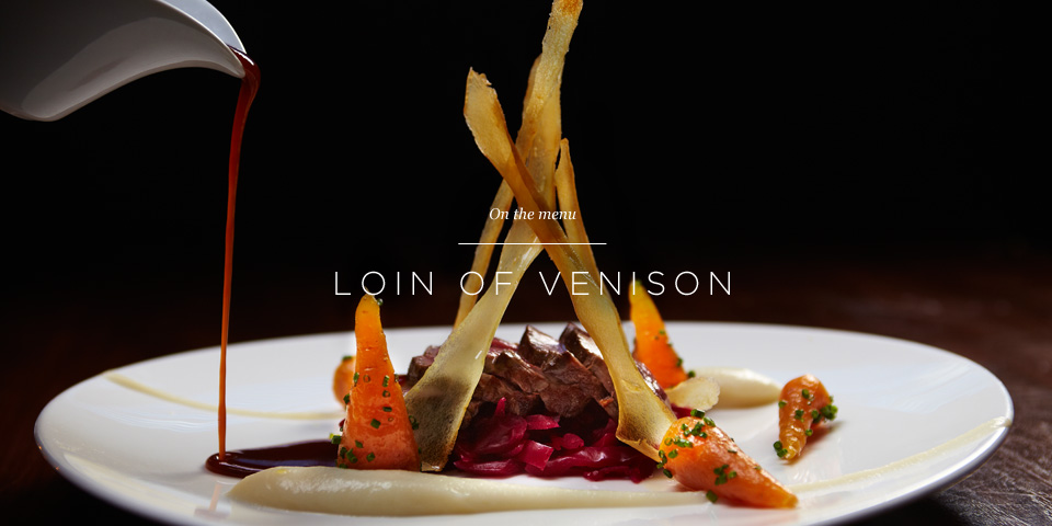 Loin of Venison on the menu at the Aviator Brasserie