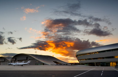 Sunset over TAG Farnborough Airport